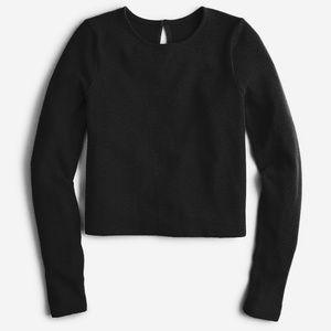 NWT J. Crew Supersoft Keyhole Sweater Black XXS